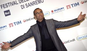 Italia host Carlo Conti poses for a photo during a photocall for the press conference of 66th Sanremo Song Festival in Sanremo, Italy, 12 February 2016. The music festival will run from 09 to 13 February. ANSA/CLAUDIO ONORATI